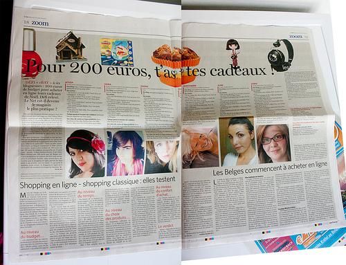"""Letilor dans Le soir """" Pour 200 euros, t'as des cadeaux"""""""