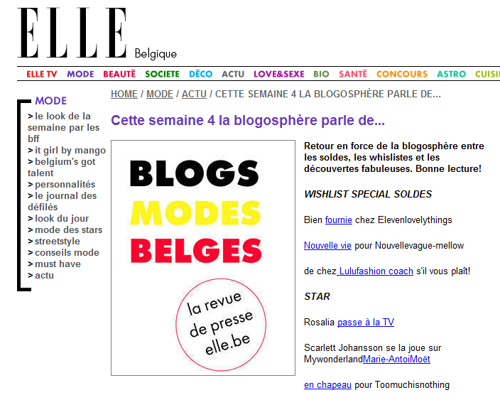 Letilor Elle blogs mode belges