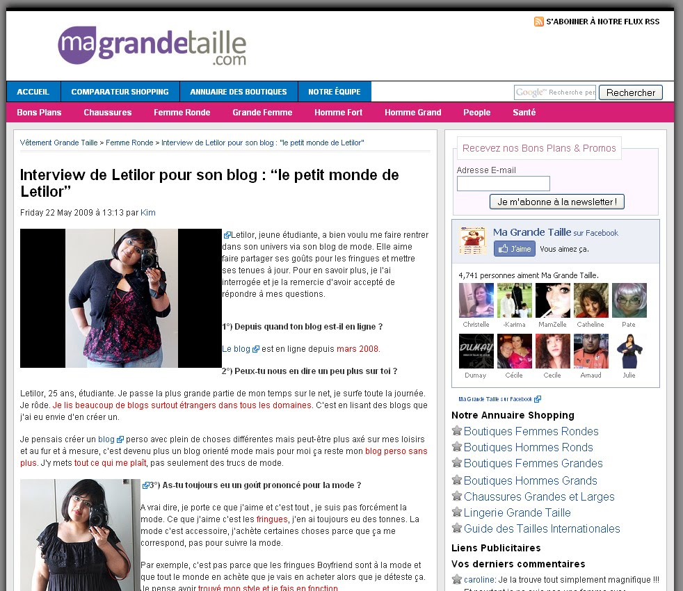 Letilor ma grande taille interview