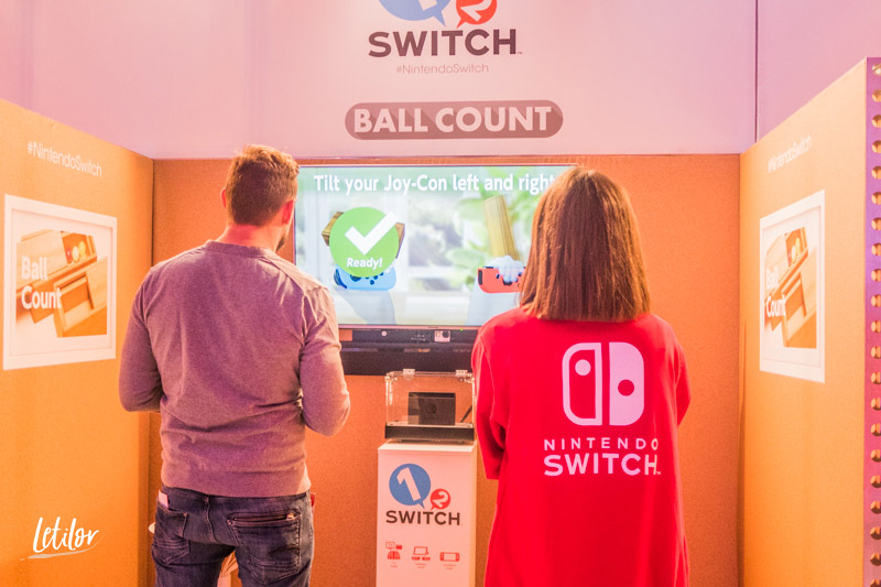 Nintendo Switch 1 2 Switch ball count