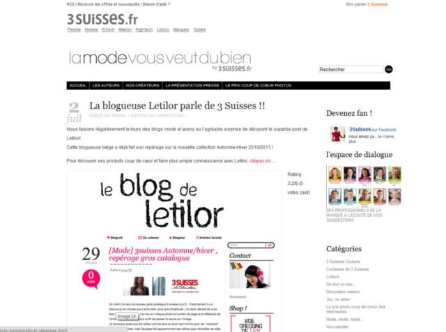 Letilor La mode vous veut du bien by 3suisses