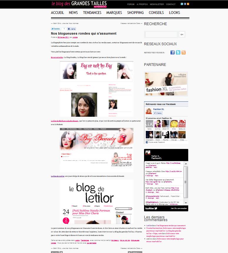 Letilor Le blog des Grandes talles fashion xxl