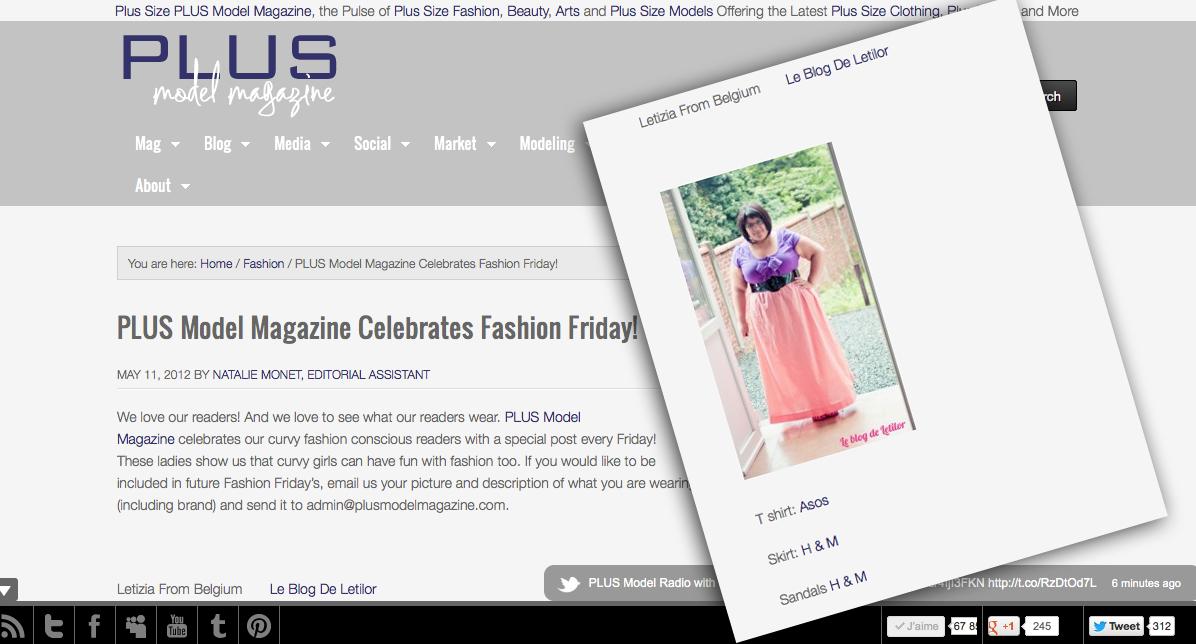Letilor Plus Size Magazine Fashion Friday