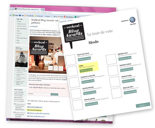 weekend blog awards letilor blog mode belge