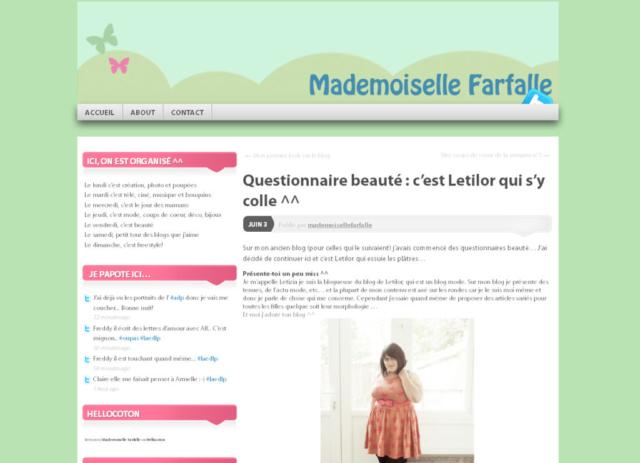 Mademoiselle farfalle