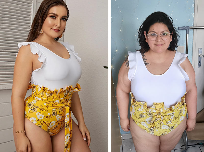 maillots grande taille shein